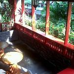 Veranda on the 2nd floor.Just beside our room