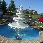 Nice fountain outside entrance