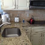 the kitchen was newly renovated with dishwasher & full fridge - more than we needed.