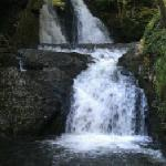 "The waterfall on the ""Tumbling Waters"" trail"