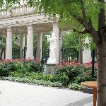 pleasant outdoor court area