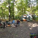 Our huge campsite