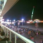 View from the first 2 story restaurant with open air balcony on the boardwalk.