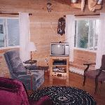 living room is spacious and has a wood stove if the evenings are cool