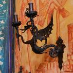 A dragon sconce... Beautiful details throughout.