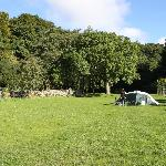 The lower camping field at the Green Dragon, Hawes