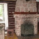 Each cabin has a fireplace