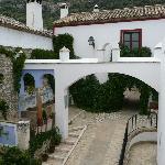 een binnenhof op hacienda Minerva