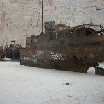The shipwreck on Shipwreck Beach