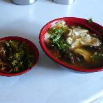 Delicious tofu soup for breakfast around the corner