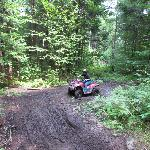Mud puddle action shot