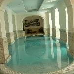 Indoor pool, attacked to outside pool.