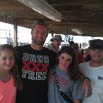 My daughter and friend with 2 of the crew members who were outstanding to work with.