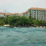 Picture of the hotel while we were swimming & snorkeling