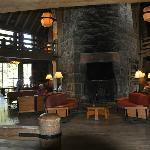 Partial view of the interior of Timberline Lodge