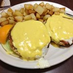 Fried Eggs Benedict (weird!)