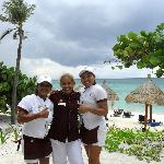 Paloma, Mary and other beach staff :-)