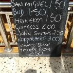 Kim's Bar prices!!!