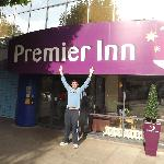 My husband Silvio in front of the hotel