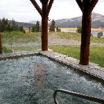 The glorious hot tub in front of the spa
