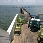 View from restaurant to fishing pier at Jimmy's