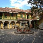 Hacienda courtyard.