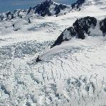 Crevasses near top