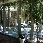 The beautiful terrace where breakfast is served (weather permitting)