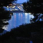 vista de noche desde la terraza
