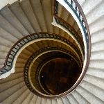 The museum stairs