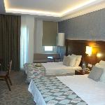 Luxury room, extra bed.P.S. all rooms involve 3 persons, all of them are equiped with an extra b