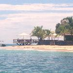View of beach & dining area from boat