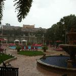 pool area during a monsoon!