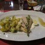 delicious steamed sturgeon with potatoes - perfect portion