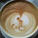 Latte Art supporting Cycling!
