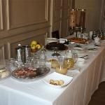 Nice breakfast buffet on top of made-to-order eggs and fresh fruit salad
