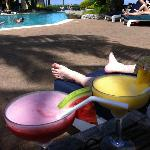 Cocktails next to the adult pool