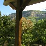 View of Chimney Rock from our porch