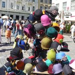 Some of the felted hats in Tallinn's market square