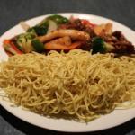 Seafood fried egg noodles
