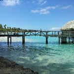 Ponte para os overwater bungalows
