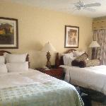 Guest Bedroom with two beds and walk out balcony