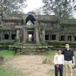Thal & I at the rear entrance to Angkor Wat