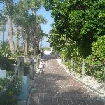 The walkway to get to our private beach