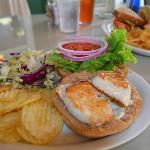 Ono Burger Sandwich at Kona Coffehouse & Cafe Honaunau
