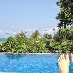 looking at beach fom top pool