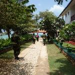 Walkway going to the beach. Since the place is owned and run by the SL Army, the place is very s