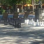 pool side chess set