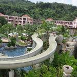 Water slide and river for tubing