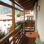 long albeit narro balcony with vally view